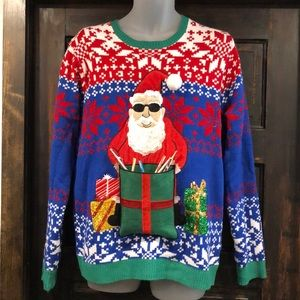 Shady Santa Ugly Christmas Sweater